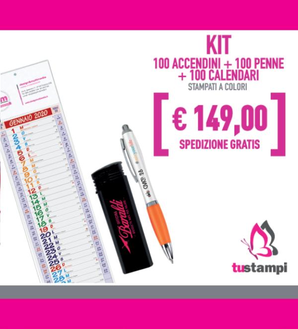 100 accendini 100 penne 100 calendari